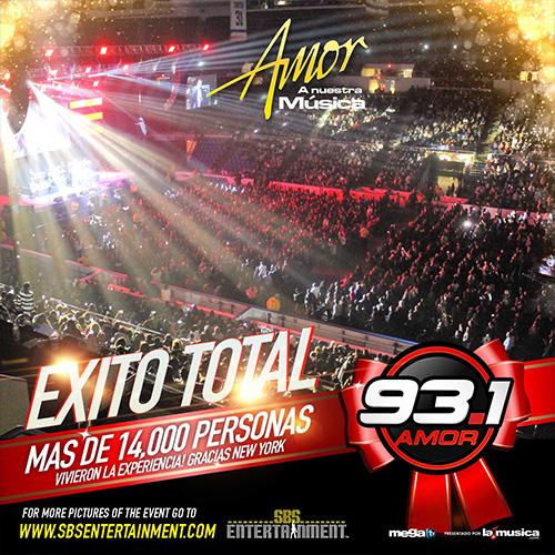 EXITO TOTAL  Amor A Nuestra Musica 2014