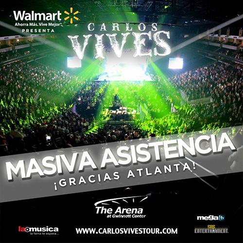 EXITO TOTAL Carlos Vives Atlanta 2013