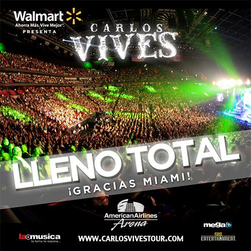 EXITO TOTAL Carlos Vives Miami 2013