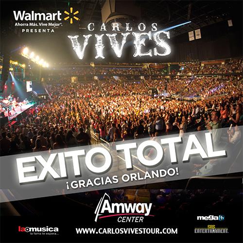 EXITO TOTAL Carlos Vives Orlando 2013