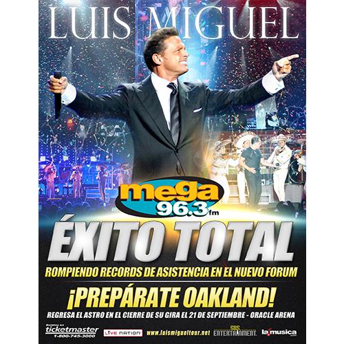 EXITO TOTAL Luis Miguel Los Angeles 2014
