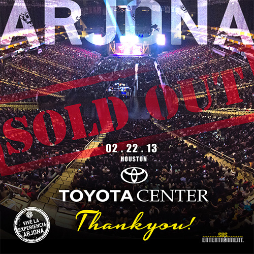 EXITO TOTAL Ricardo Arjona Houston 2013